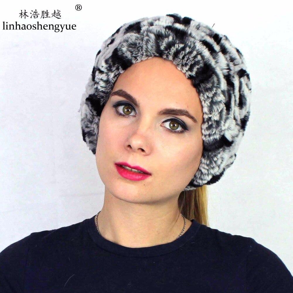 Linhaoshengyue Free shipping fashion scarf caps rabbit fur