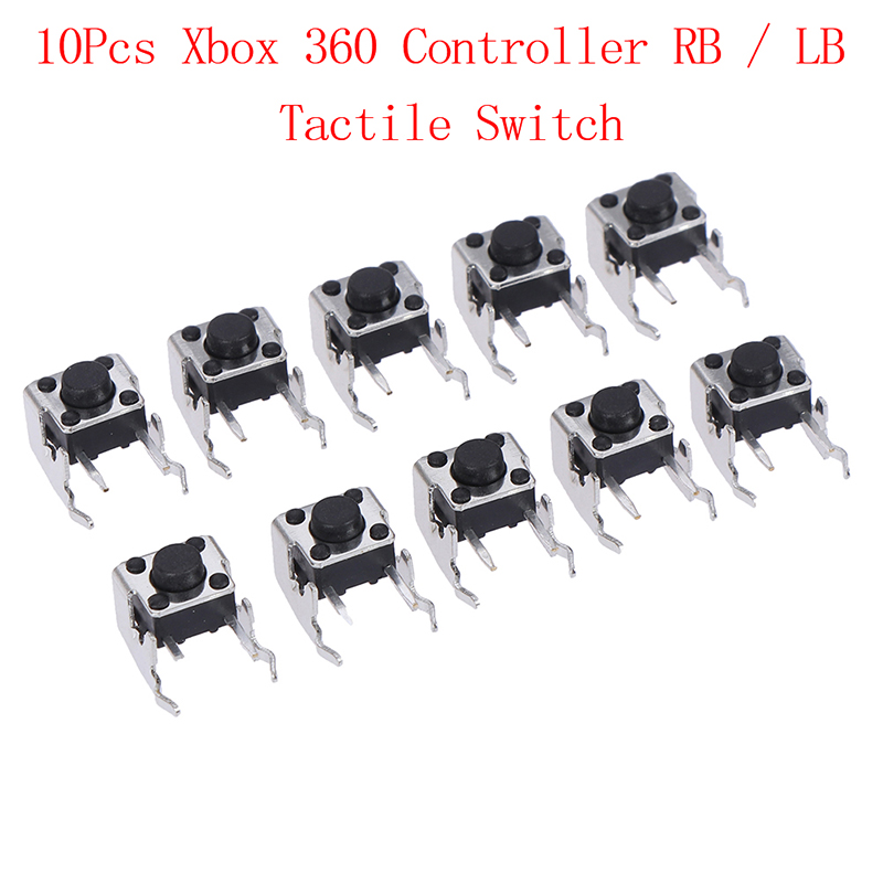 10Pcs Replacement Repair Parts LB RB Switch Bumper Joystick Button For Xbox 360 Controller