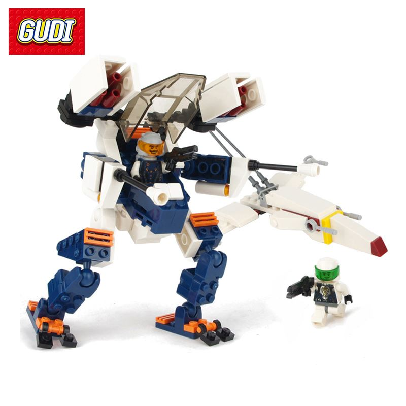Fire Scorpion Fighter Building Blocks Building & Model Toys Space Aircraft Mecha Fighter Assembly DIY Bricks Gift