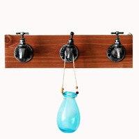 Home Decor Hooks Retro Wall Hanger Hooks DIY Simple Zakaka Hooks Antique Faucet Hook Wood Coat SundriesTools Hanger Wall Mounts