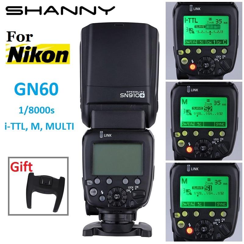 Shanny sn910 + ведущей вспышки я-ttl высокая скорость