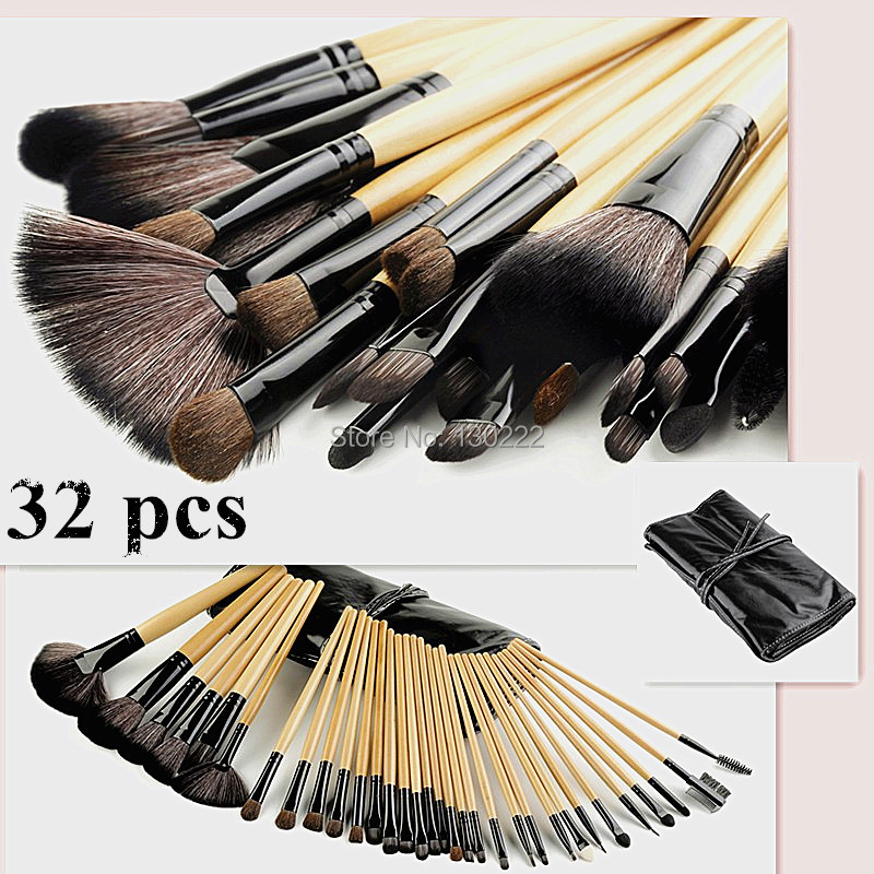 free shipping  naked brushes 32Pcs/set  Makeup Brushes maquiagem Cosmetic Make Up Brush Set makeup tool kit  with black Bag