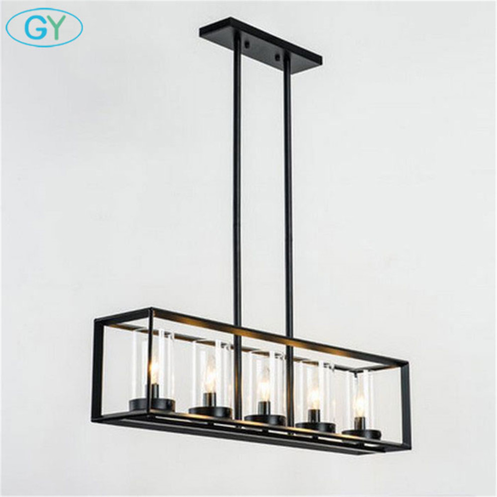 Post-modern New Nordic rectangular Restaurant dining room Kitchen table cafe  lustres pendant lights suspension luminaire lamp rectangular dining room pendant lights european style led crystal pendant lights modern restaurant lamp bar cafe creative lamps