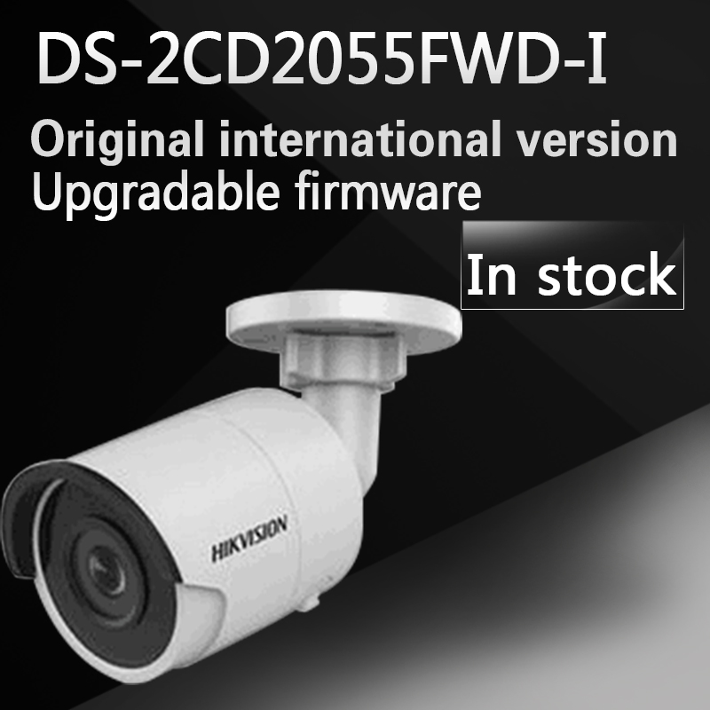New english version Free shipping DS-2CD2055FWD-I replace DS-2CD2055-I 5MP Network Bullet Camera Support on-board storage free shipping english version ds 2cd4a65f iz 6mp smart ip outdoor bullet network camera support 64g on board storage