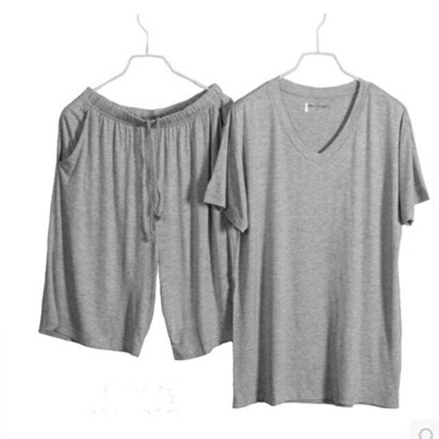 Pijama Modal modal pijamas ropa de dormir para hombres hombres ropa de dormir pijamas set para hombre establece pijama de manga corta para hombre pajamas4