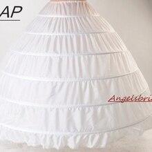 ANGELSBRIDEP, новинка, 6 обручей, подъюбники, суета для бального платья, свадебные платья, Свадебный подъюбник, аксессуары для невесты, Кринолины