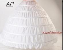 ANGELSBRIDEP 새로운 6 농구 Petticoats Bustle 공 가운 웨딩 드레스 Underskirt 신부 액세서리 신부 Crinolines