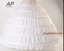 ANGELSBRIDEP New 6 Hoops Petticoats Bustle for Ball Gown Wedding Dresses Underskirt Bridal Accessories Bridal Crinolines cheap CN(Origin) Linen Knitted Adult Polyester