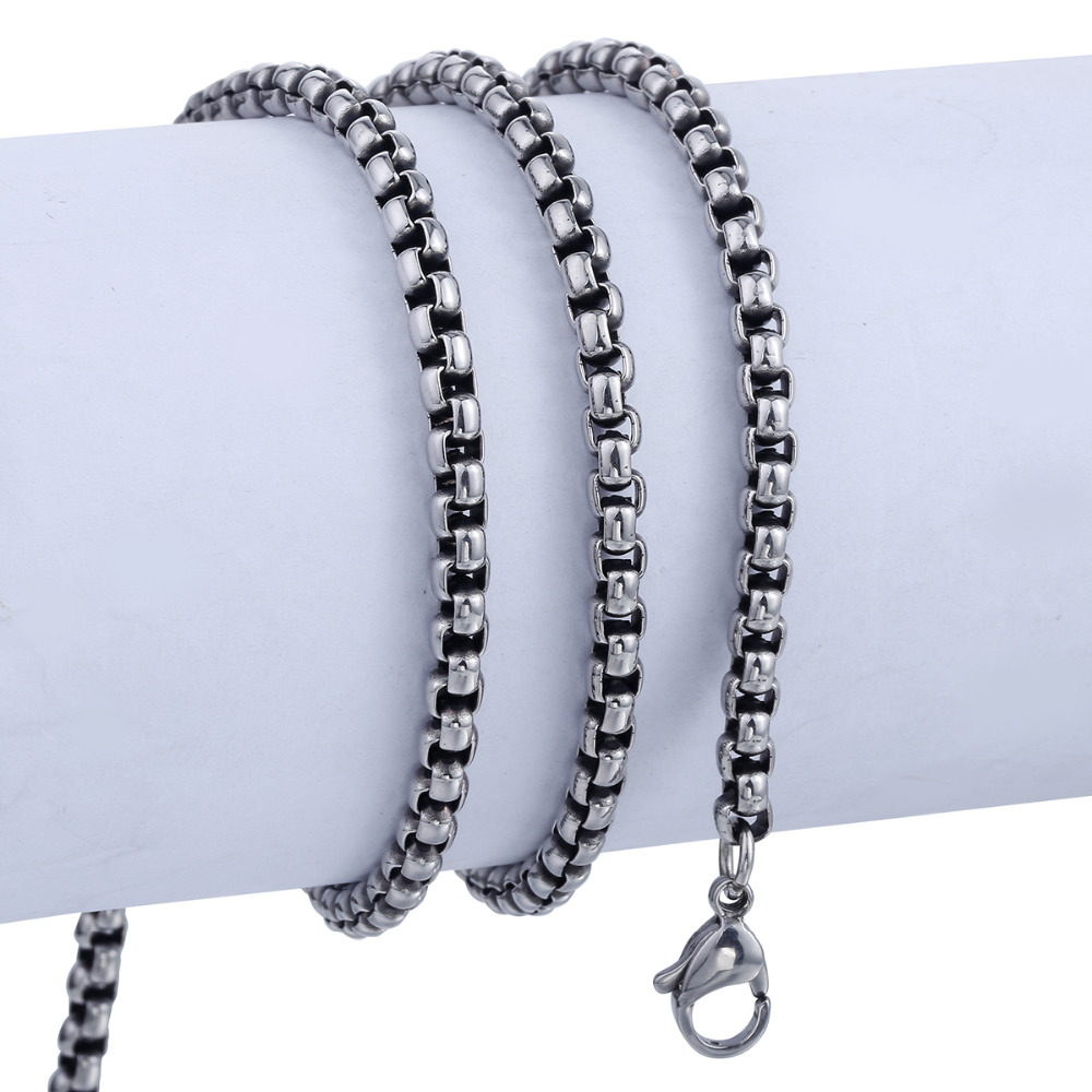 Stainless Steel Silver Necklace for Men