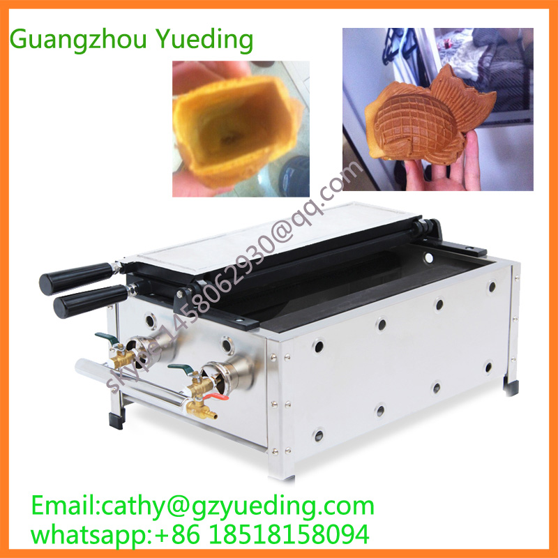 Gas goldfish waffle machine for sale,5 pcs fish open mouth making machine go goldfish