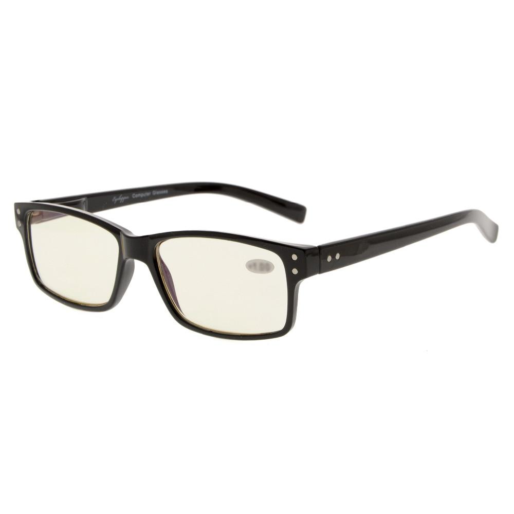 CG032 Eyekepper UV aizsardzība, pret atspīdumu / zilu stariem, skrāpējumiem izturīgs lēcas datoru nolasīšanas brilles Lasītāji dzeltenie tonēti lēcas