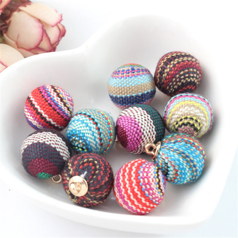 10pcs Multicolored 13mm Round Ball DIY Jewelry Findings for Craft Supplies