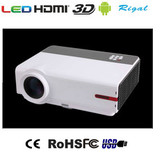 RD-808A Más Barata HDMI USB LCD LED 3200 lúmenes Proyector de Cine En Casa Portátil HD 1080 P Android wifi Proyector Projetor