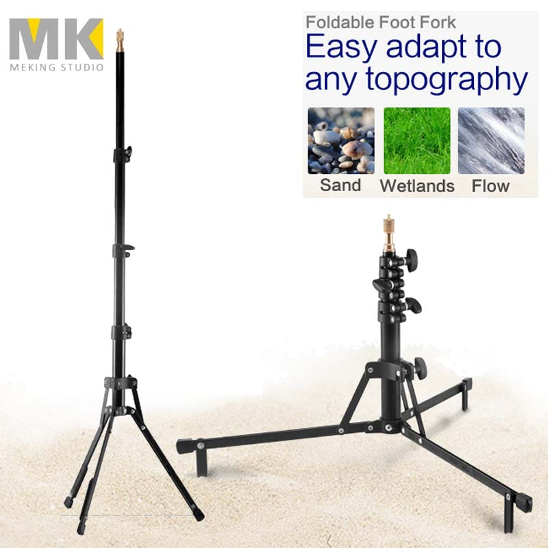 Meking Photo Studio Heavy Duty MF 6027B short Version Light Stand for video lighting support system holder Fotografie Accessoire-in Photo Studio Accessories from Consumer Electronics    1