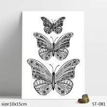 ZhuoAng Transparent butterfly Clear Stamp  Seal for DIY Scrapbooking Photo Album Card Making Decoration Supply