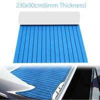 90x230cm Self Adhesive EVA Foam Blue RV Touring Car Teak Sheet Floor Boat Yacht Synthetic Decking