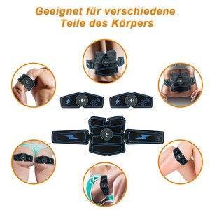 Image 4 - 8 sztuk bezprzewodowy stymulator mięśni trener inteligentny trening brzucha szkolenia elektryczne odchudzanie naklejki wyszczuplanie ciała pas Unisex