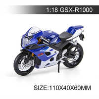 Maisto 1:18 Motorcycle Models GSXR1000 Model bike Alloy Motorcycle Model Motor Bike Miniature Race Toy For Gift Collection