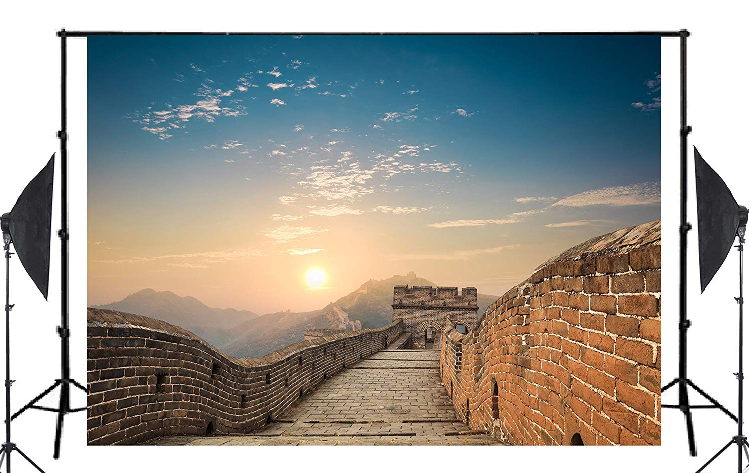 Image 2 - Majestic Spectacular Great Wall of China Background Natural Scenery Photo Studio Backdrop 150x220cm Photography Backdrops Wall-in Photo Studio Accessories from Consumer Electronics