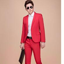 Moderator dress performance suit studio men' s clothing Wedding plus Men Long-Sleeved suits jacket and pant Theatrical Tuxedos