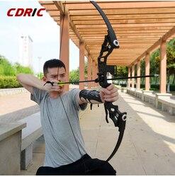 Potente arco recurvo profesional 30/40lbs caza arco flecha caza al aire libre pesca