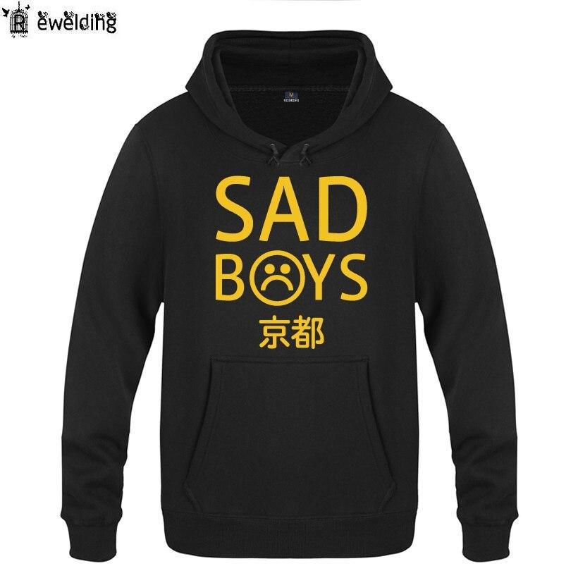 Mens Hoodies Yung Lean UNKNOWN DEATH Sad Boys Hoodie Men Hip Hop Fleece Long Sleeve Mens Sweatshirt Skate Music Pullover Coat