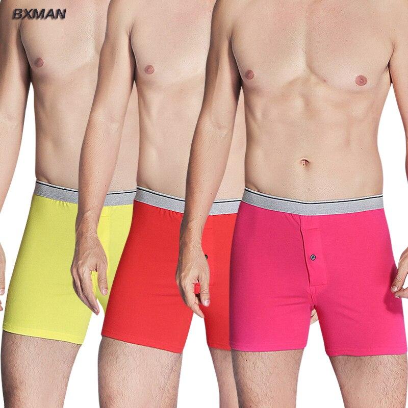e02f5fe8708a BXMAN Cotton Knit High Quality Sexy Men Boxer Shorts Men's Underwear  Classic Underpants Men Undergarment 3Pieces/Lot-in Boxers from Underwear &  Sleepwears ...