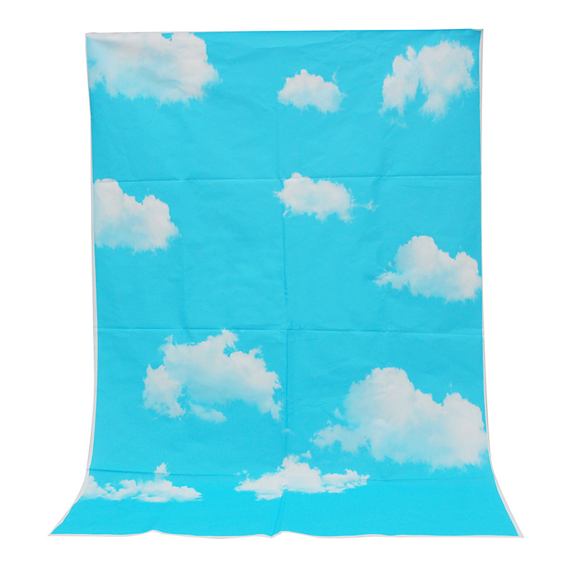 Outdoor Blue Sky White Clouds Theme 3x5ft Photography Background For Studio Photo Props Vinyl Photographic Backdrop cloth 1x1.5m