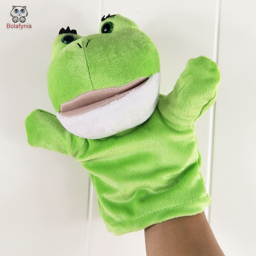 Puppets Bolafynia Children Hand Puppet Toys Green Open Mouth Frog Baby Kid Plush Stuffed Toy For Christmas Birthday Gift Driving A Roaring Trade Toys & Hobbies