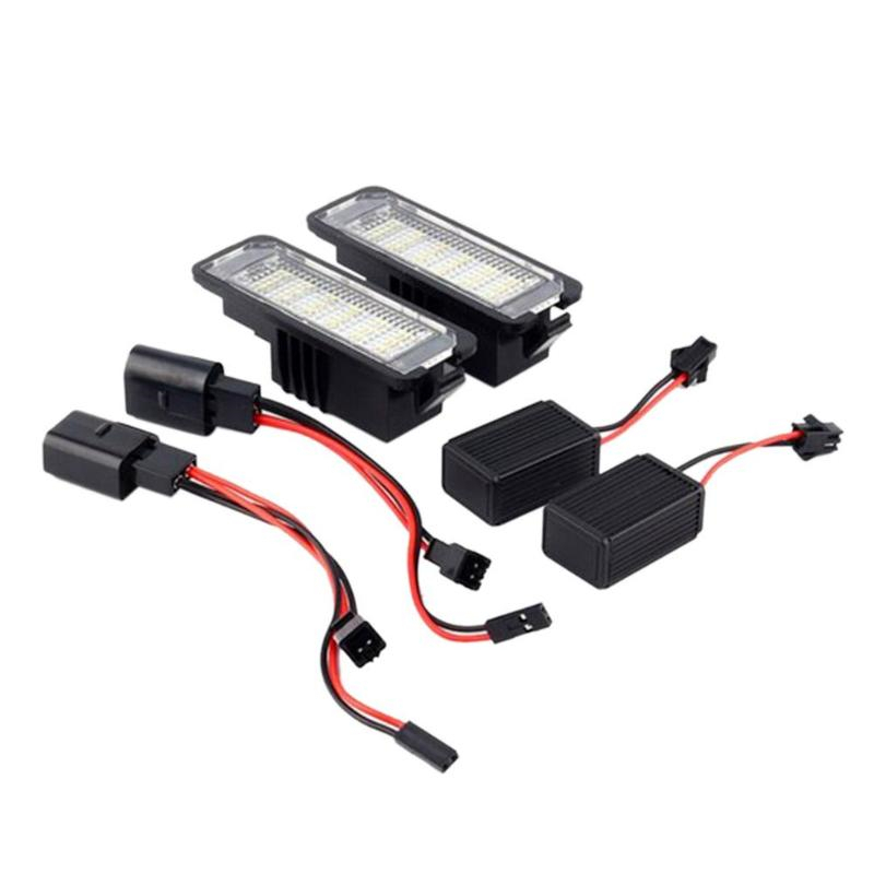 2Pcs For Bentley Car License Plate Lights Exterior Accessories 12V LED Number License Plate Light Lamps in Signal Lamp from Automobiles Motorcycles