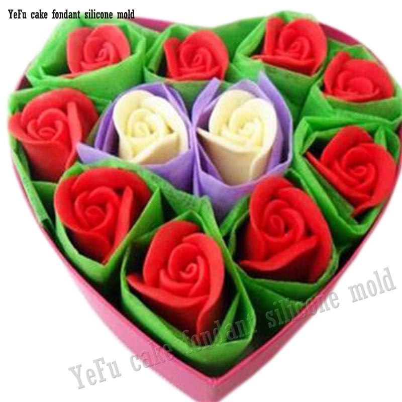 2f18d3ce4 3D قالب من السيليكون روز الزهور شكل قوالب للصابون ، حلوى ، الشوكولاته ،  الجليد ، DIY كعكة تزيين أدوات F0785