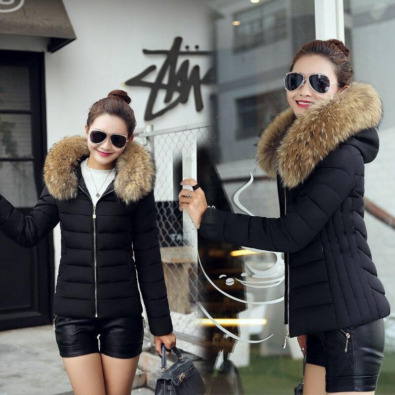 Bayanlar Kış Aşağı Ceket ve Ceket 2016 Bayanlar Parkı Kat Sıcak Yapay Kürk Yaka Üst k026