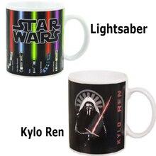 Star Wars Lichtschwert/Kylo Ren Wärme Offenbaren Becher Farbwechsel Kaffeetasse Sensitive Keramik Becher Temperatur sensing Geburtstagsgeschenk