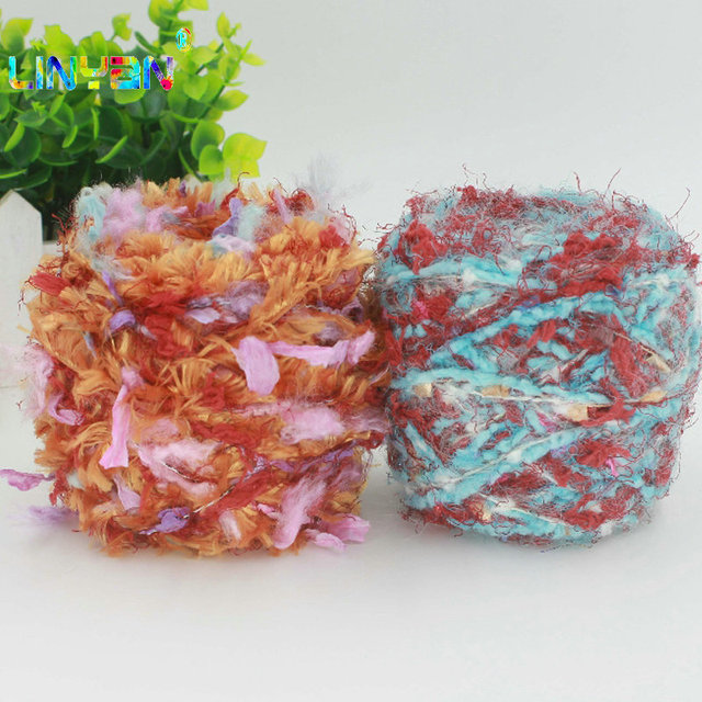200 g/lote pluma hilados kyrie para tejer a mano hilo crochet ...