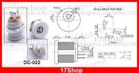 500PCS White 5.5mm x 2.1mm DC Socket + Nut Panel Mount DIY DC 022 for Charger