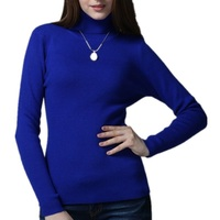 Free Shipping 15 Colors High Quality Elastic Cashmere Pullover Women Sweater Knitted Clothing Turnleneck Hot Sale