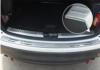 Aço inoxidável Inner Outer Pára Placa Traseira Tampa Trims Protector CX-5 Quadros Estilo Do Carro Apto Para Mazda 2013 2014 2015 2016