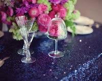 2017 New Navy Blue Rectangle Sequin Tablecloth 120x200cm,Wedding Table Cloth,Sparkle Sequin Linen,Sequin Cake Tablecloth Overlay