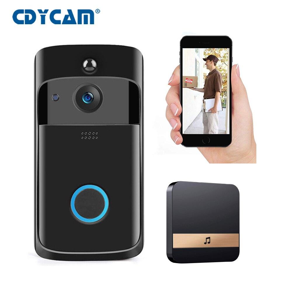 HD 720P Smart WIFI Doorbell Intercom Video Ring Door Bell With Camera IR Entry Door Alert