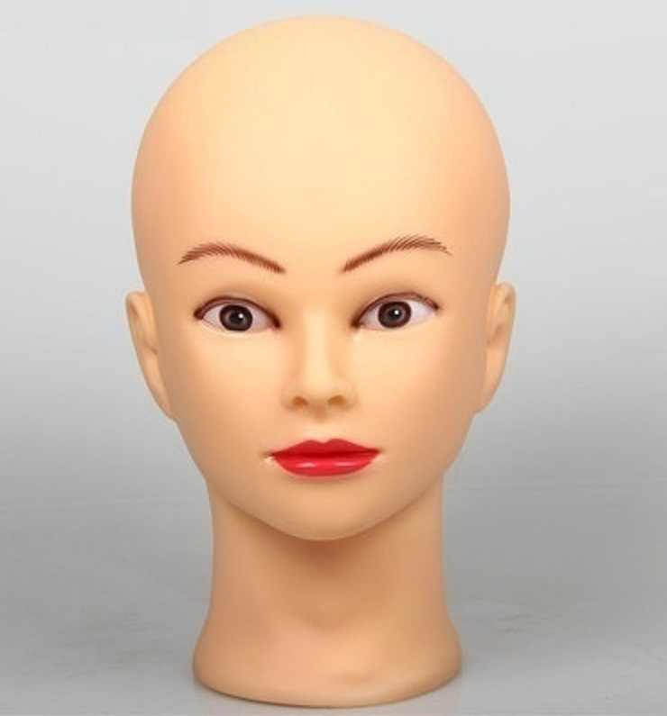 CAMMITEVER 52cm Professional Training Mannequin Head for Practice High Quality Maniquies Women Mannequin Head