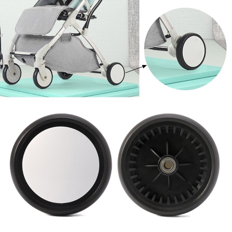 Baby Strollers Front/Rear Wheels Pushchair Back Rubber Wheel Kids Yoya Pram Stroller Accessories For With Tools Stroller Wheel