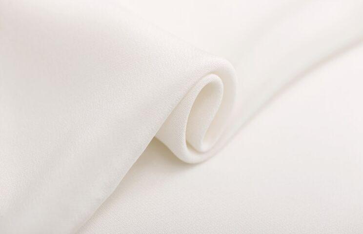 """Howmay 100% čistý hedvábný crepe de chine 30m / m 40m / m 45 """"114cm 55"""" 140cm přírodní bílá PFD tkanina pro šití šatů nebo DIY ruční práce"""