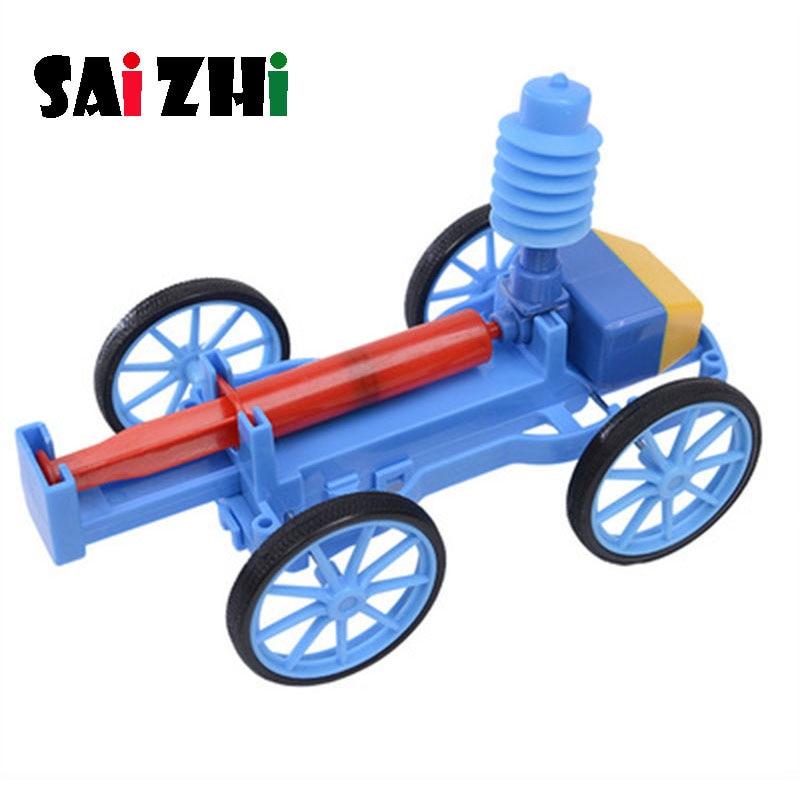 Saizhi Diy Druckluft Auto Entwicklung Geistigen STEM Spielzeug Wissenschaft Experiment Kit kinder Lab Set Geburtstag Geschenk SZ3247