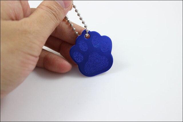 10 Pcs Blank Bricolage Paw Imprimer Pet ID Tag Chien Chat Carte De Visite Logo Engrave