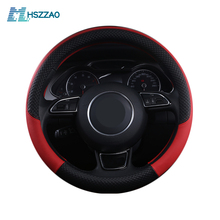 Car Steering Wheel Cover Leather Size 38cm For VW Skoda Chevrolet Ford Nissan etc. 95% Cars Free Shipping стоимость