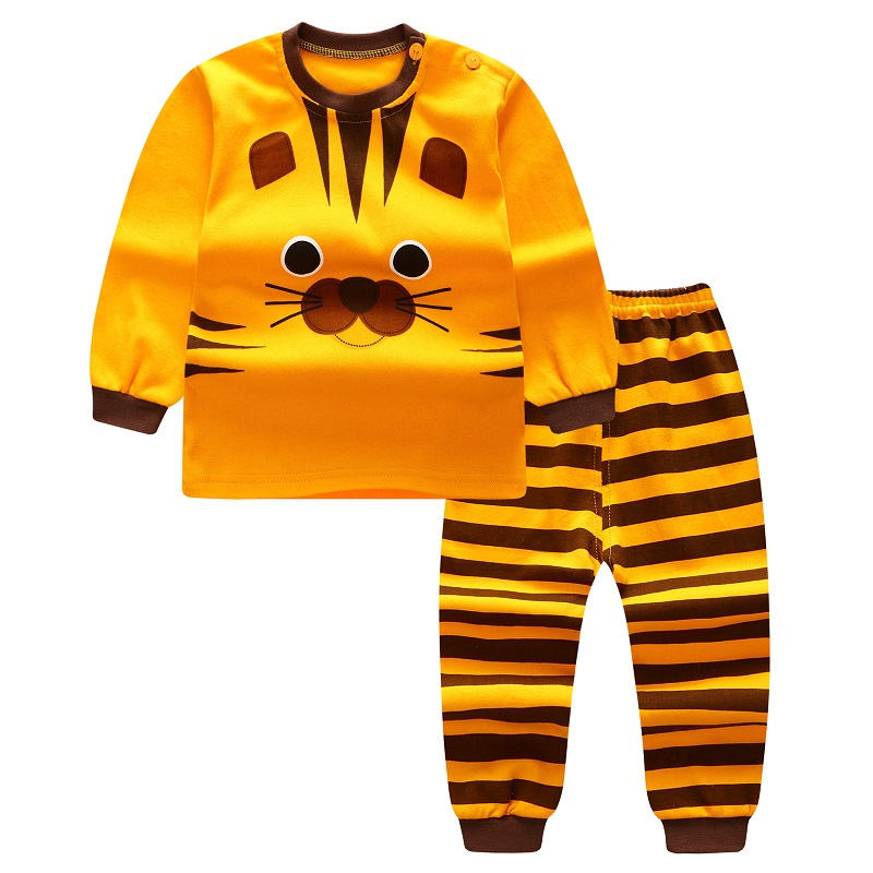 Baby Boys Girls Clothing Set Children Short sleeve + Pants Set Kids Cartoon Clothes Cartoon Casual Suits 2017 Autumn цена