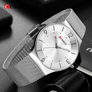 Image 3 - סגנון פשוט הגעה לניו אופנה & מזדמן CURREN גברים עסקים של גברים מלא פלדת קוורץ שעוני יד Relogio Masculino Relojes