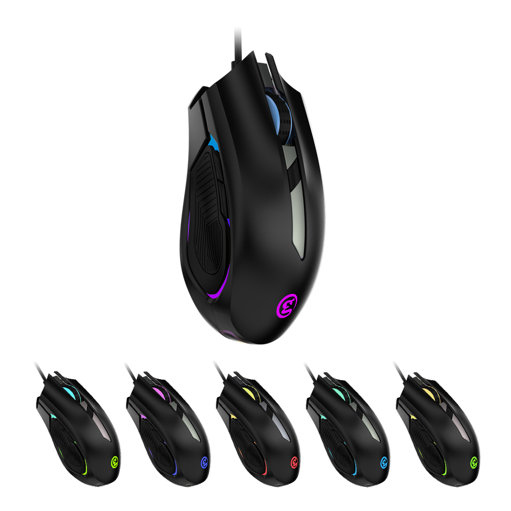 GameSir GM100 USB Wired RGB Gaming Mouse Compatible with Windows Vista/7/8/10, Mac OS and GameSir X1 BattleDock/Z1 Gaming Keypad original logitech g102 gaming wired mouse optical wired game mouse support desktop laptop support windows 10 8 7