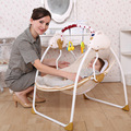 2016 Free shipping baby electric rocking chair bouncer intelligent baby swing chair baby chaise lounge music