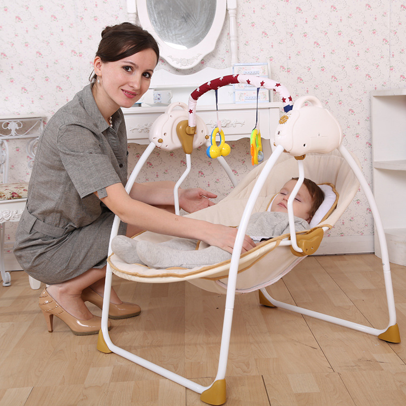 2016 Free shipping baby electric rocking chair font b bouncer b font intelligent baby swing chair